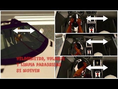Panel Activo V3.2 Completo para GTA San Andreas Velocimetro, Volante y Limpia parabrisas se mueven