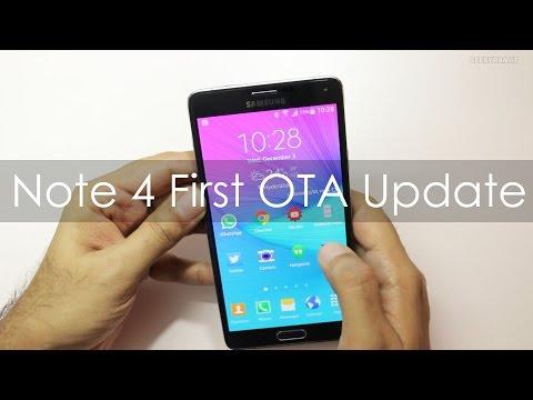 Samsung Galaxy Note 4 First OTA Software Update - Build N910GDTU1ANK3