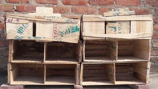 How to make Breeding Setup || only just make 60 rupees|| how to make pigeons home with wood