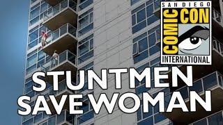 ComicCon Stuntmen Rescue Woman From Suicide Attempt!