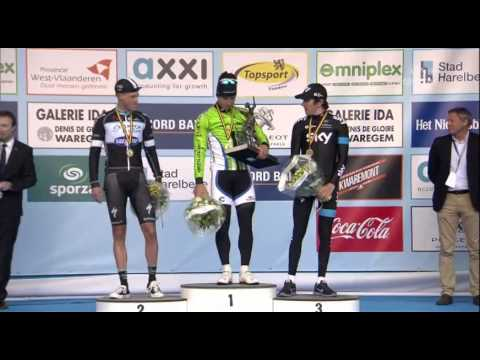 E3 Harelbeke 2014 - Peter Sagan - full podium ceremony