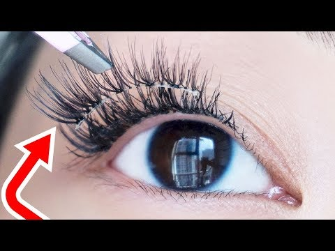 Don't Wear False Lashes Again Until You Try This TRICK!