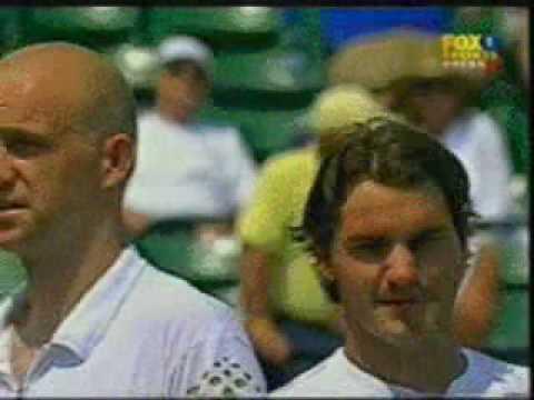 Happy Roger Federer