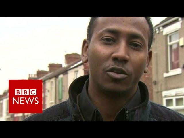 'Victimised because of colour of my door' - BBC News