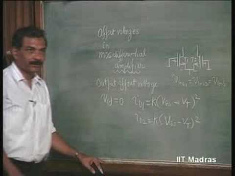 Lecture - 34 MOSFET Differential Amplifiers