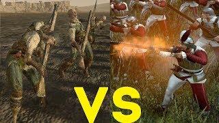 Толпа пиратов пушкарей-зомби (пистоли) vs Пистольеры Total War Warhammer 2. тесты юнитов v1.5.0.