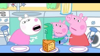 Peppa pig: there's only one cake left in the fridge, but all three children want to eat.