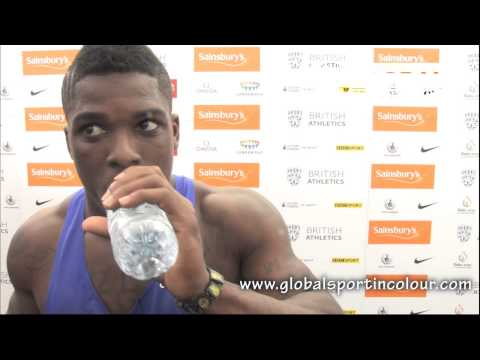 Marvin Bracy Post Diamond League interview - Birmingham 2015