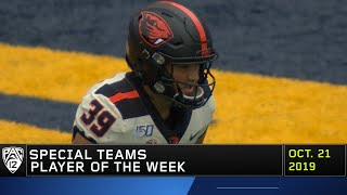 Oregon State punter Daniel Rodriguez named Pac-12 Special Teams Player of the Week