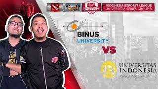 UNIVERSITAS INDONESIA VS BINUS UNIVERSITY W/ Coki & Tretan MLI  @IEL 2019: University Series