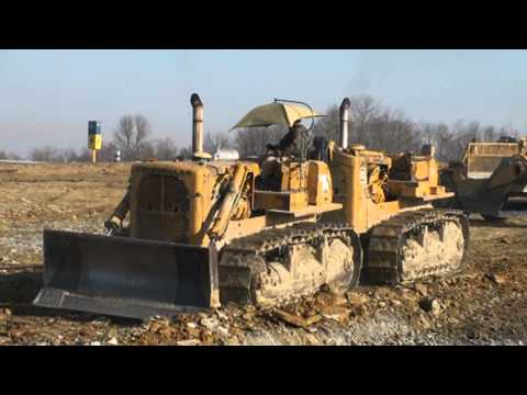 Caterpillar Dual D-9's Pushing Scrapers 2