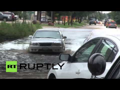 USA: Dallas battered by heavy rains, flooding