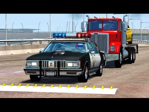 BeamNG Drive SPIKE STRIP HIGH SPEED CRASHES #83