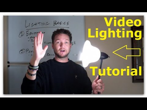 Cheap Studio Lighting for Video Tutorial - Positioning Techniques and Equipment