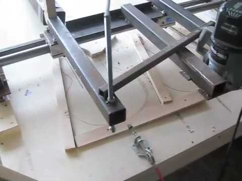 DIY Shop made Copy Carver luthier guitar jig tools no cnc duplicator pattern bigdguitars