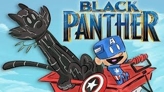 Black Panther in 8 Different Animated Cat Styles | Butch Hartman