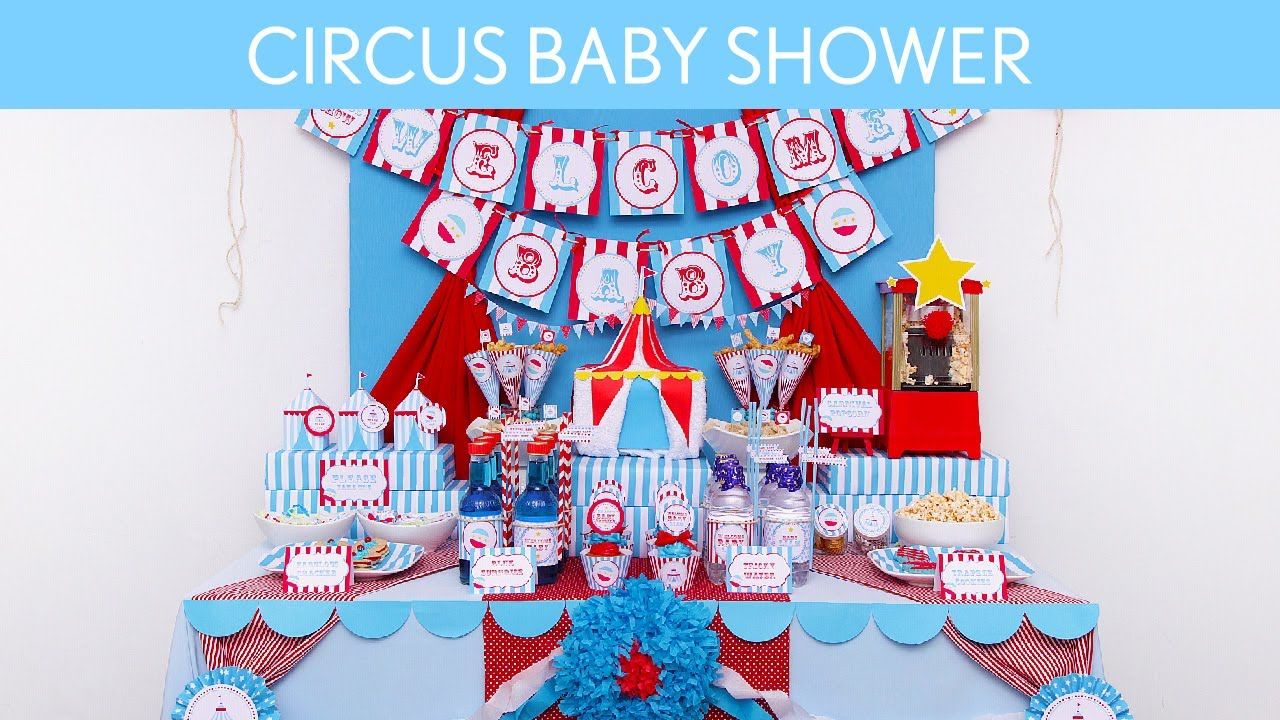 Circus Blue Baby Shower Party Ideas S7