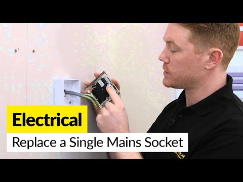 How to Replace a Single 13 Amp Mains Socket