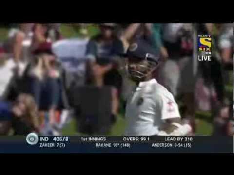 Ajinkya Rahane 1st Test Hundred 118 Vs New Zealand 2nd Test 2014 Feb