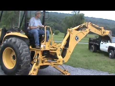 2006 John Deere 110 TLB Tractor Loader Backhoe TLB 4x4 Yanmar Diesel Nice For Sale