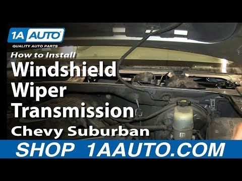 How to install replace windshield wiper transmission for 2001 chevy tahoe window motor replacement