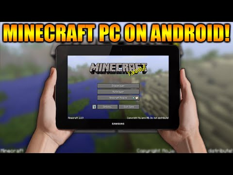 ★HOW TO PLAY MINECRAFT PC ON ANY ANDROID TABLET OR PHONE TUTORIAL! [DOWNLOAD LINK]★