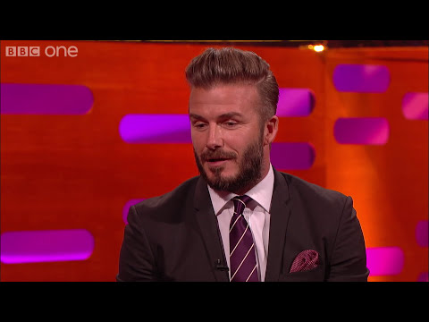 David Beckham's hairstyles - The Graham Norton Show: Series 16 Episode 20 - BBC One