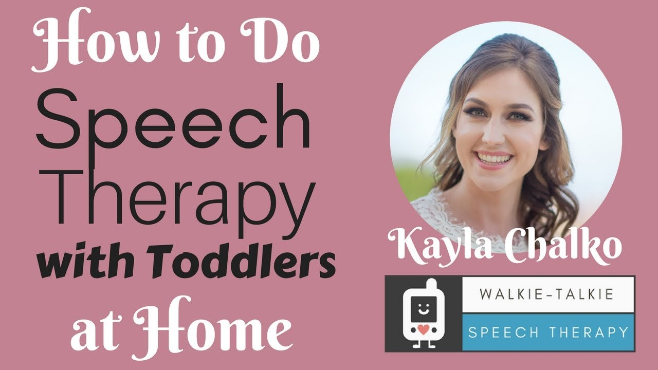 does speech therapy help for toddlers