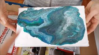 Fluid Painting - First Try (Acrylbilder gießen)