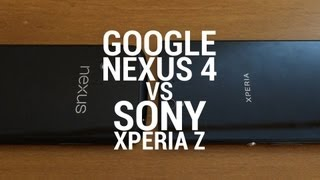 Sony Xperia Z vs Google Nexus 4