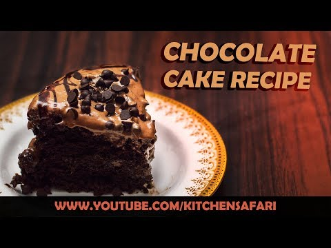 How To Make Chocolate Cake At Home | Eggless Chocolate Cake Recipe by Kitchen Safari