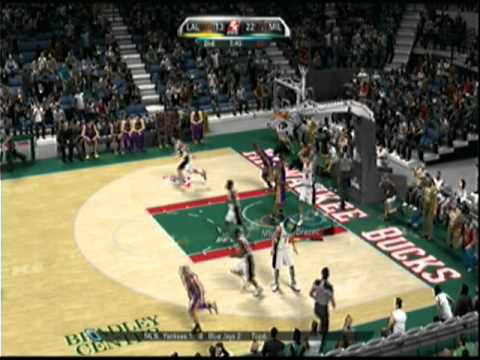 NBA 2k10 - aslamh719 (Lakers) -vs- boltokPwnage (Bux) - 1st Half Video