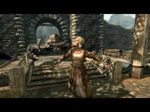 Skyrim - Giant mudcrab attacks Whiterun