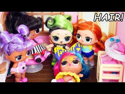 GOLD #Hairgoals Doll In LOL Surprise Beauty Salon Fix Real Hair For Series 5