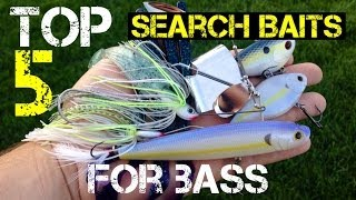 Top 5 Search Baits for Bass