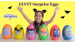 Vampirina Surprise Eggs Play Doh Opening Fun