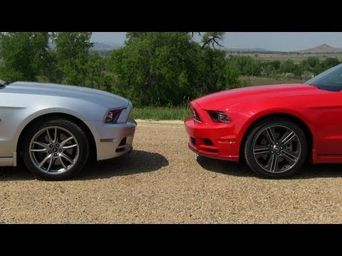 2013 Ford Mustang GT vs V6 Mustang 0-60 MPH Mile High Mashup Test