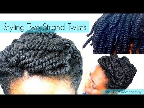 How to Style /Pin Up Two Strand Twists| Natural Hair (Requested)