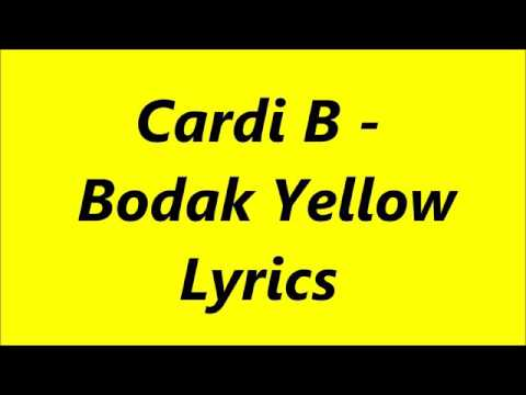 Bodak yellow lyrics song