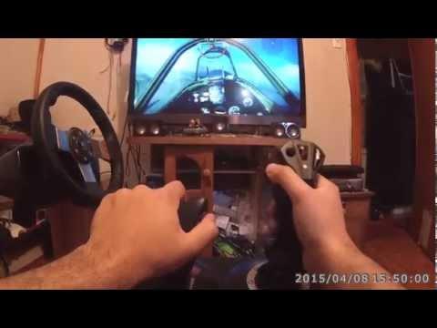Thrustmaster T.Flight Hotas X test - Birds of Steel demo