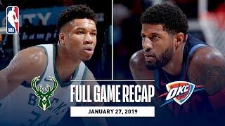 Full Game Recap: Bucks vs Thunder   Paul George's Impressive 36 Point Performance