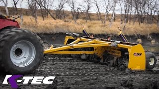 Peeling Clay to Level a Jobsite with K-Tec 2016 Rigid Land Leveler