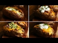 Loaded Baked Potatoes 4 Ways