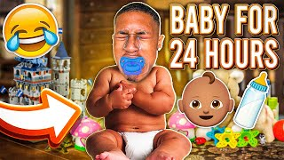 COREY ACTS LIKE A BABY FOR 24 HOURS!!