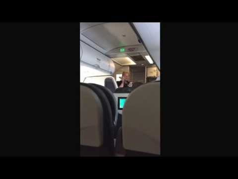 Frontier airlines Ebola song by flight attendant.