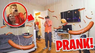 Funniest Floating Food REVENGE PRANK on My Roomate!