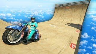 HACIENDO SKATE CON UNA MOTO!! - CARRERA GTA V ONLINE - GTA 5 ONLINE
