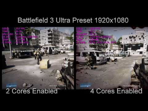 2 CPU Cores VS 4 CPU Cores Gaming Performance