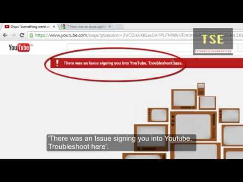 How to fix youtube signing in issue
