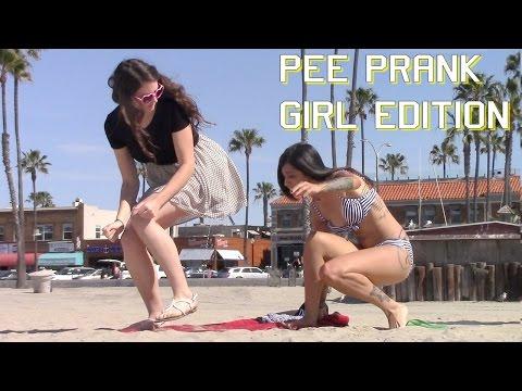 Girl Peeing on Girls PRANK